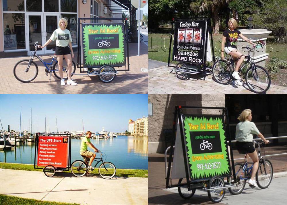 Рекламные велорикши