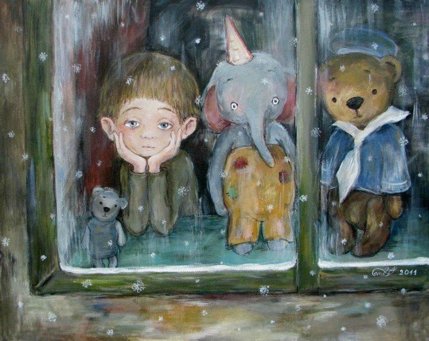 Грустные картины Нино Чакветадзе