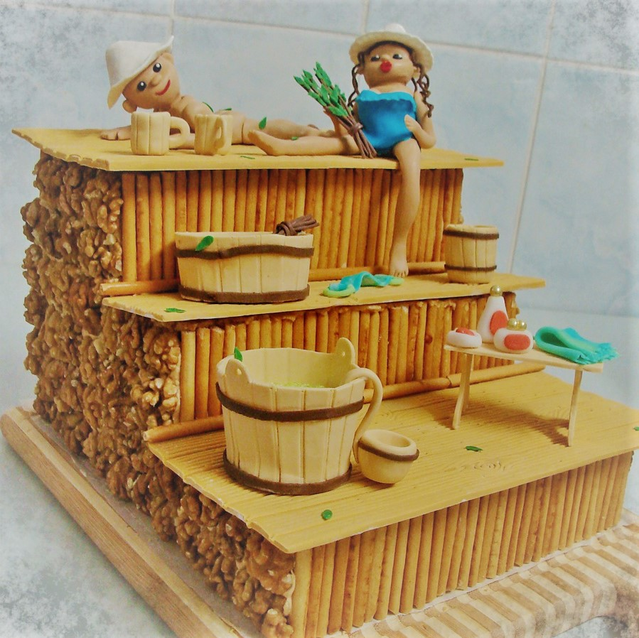 кухонный торты фото на банную тему деталях