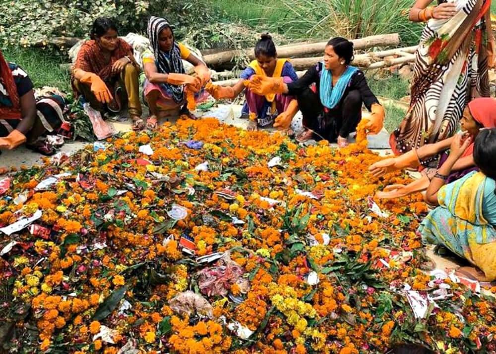 Изготовление ладана из использованных цветов