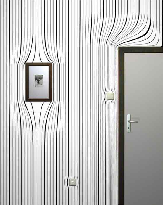 Необычные обои для стен — несколько весьма интересных примеров