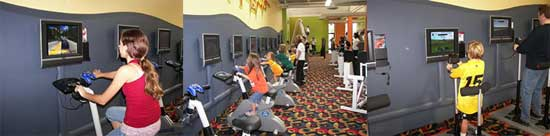 Салон видеоигр, совмещенный с велотренажерами