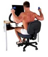 Необычный тренажер или как накачать бицепсы, сидя в интернете