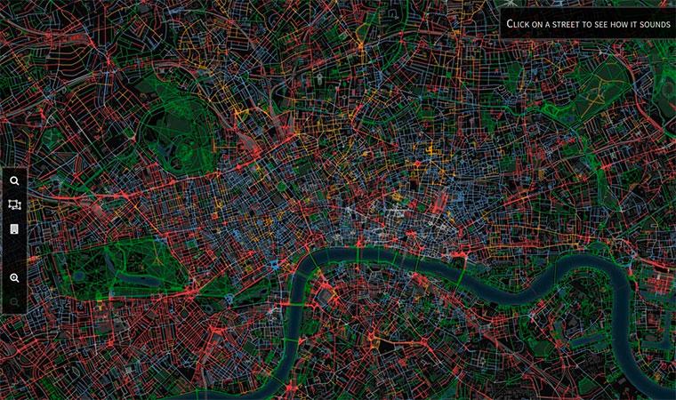 Бизнес идея №5664. Он-лайн карта покажет самые тихие улицы города