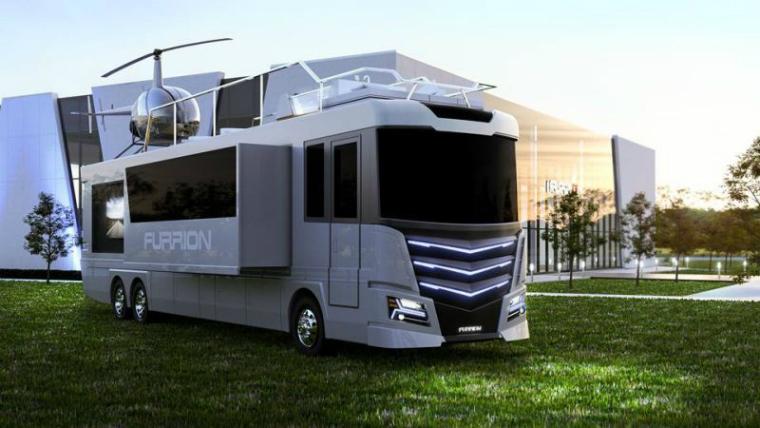 Бизнес-идея №5941. Дом на колесах с персональным вертолетом