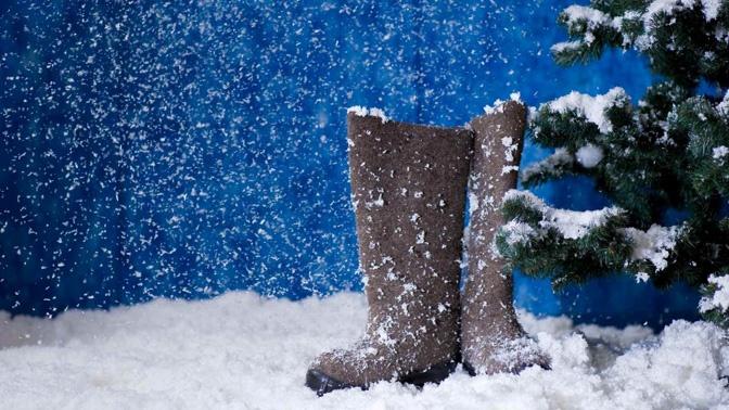 Как на открытке сделать снег