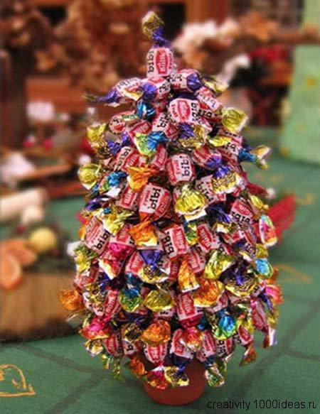 Оригинальная елка из конфет