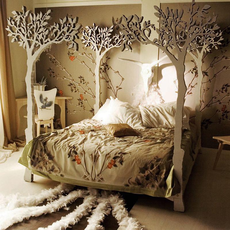 Оригинальные спальни фото