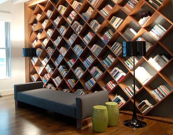 51 пример креативного дизайна книжных полок