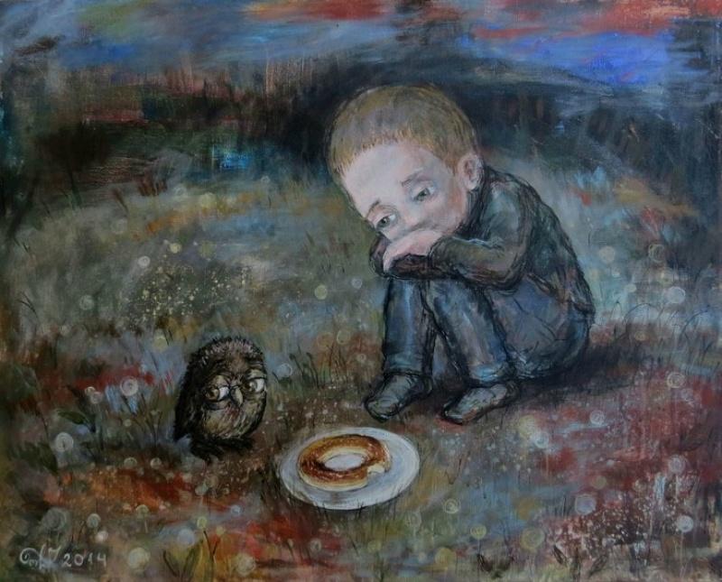 Художники рисуют грусть