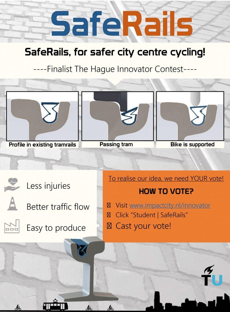 Система от попадания велосипеда в рельсы