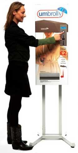 Идея бизнеса в ритейле: вендинговый автомат по продаже зонтов