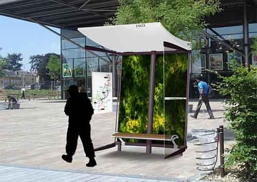 Идея необычной автобусной остановки:  Автобусная остановка на солнечных батареях