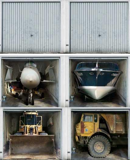 Интересная идея бизнеса: постеры на гаражные ворота