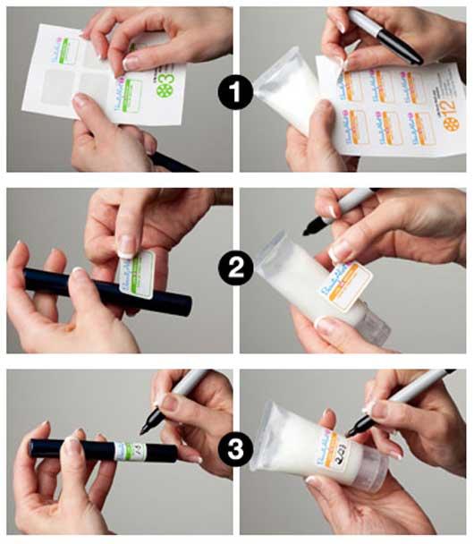 косметическая идея: Стикеры для контроля срока годности косметики