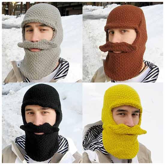 подарочная идея: Шапка с бородой и усами