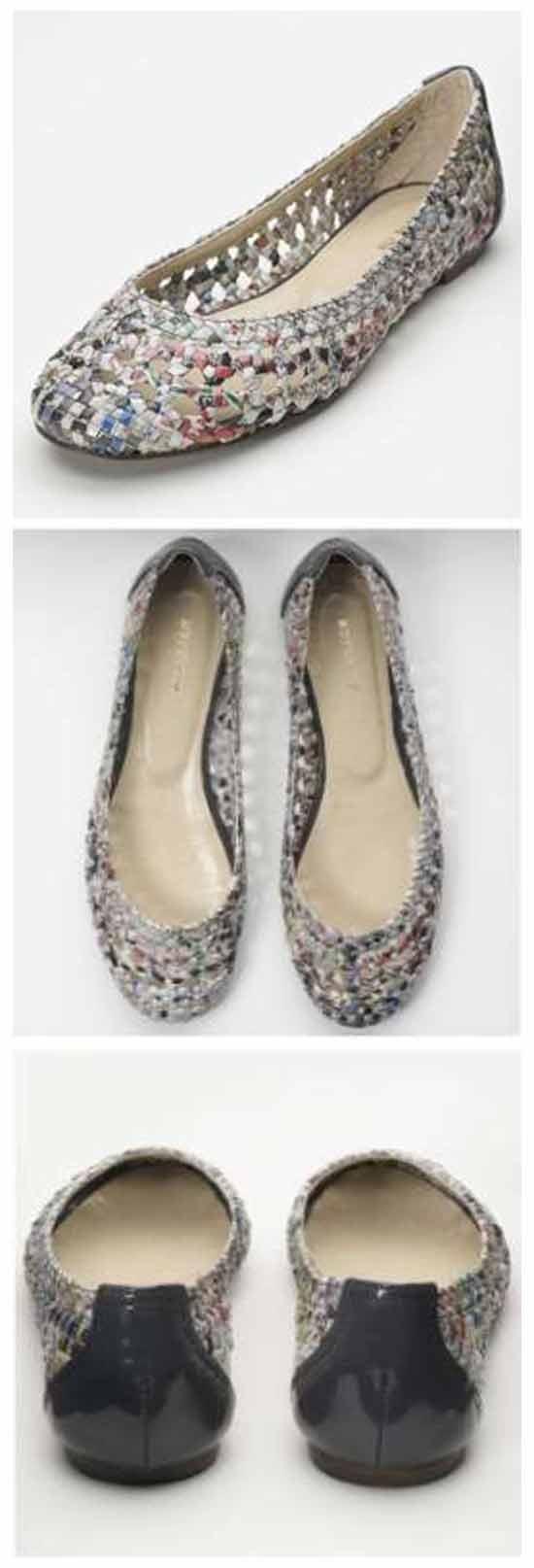 оригинаяльная обувная идея бизнеса: Туфли из газеты