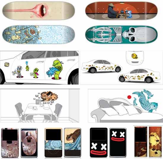 уникальная дизайнерская идея бизнеса: Виниловые стикеры на мобильные девайсы