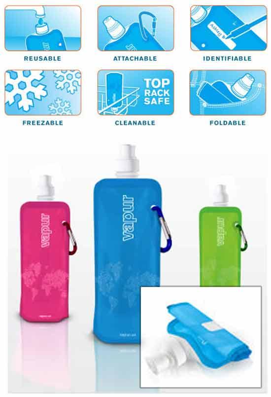 оригинальная идея бизнеса: Складная бутылка для воды
