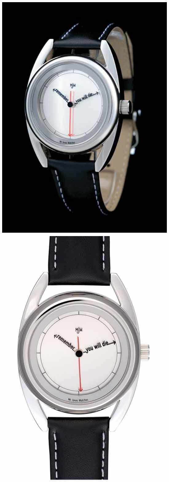 Идеи необычных часов: Часы, напоминающие о смерти