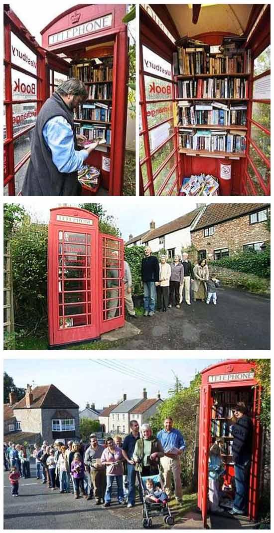 Необычные идеи бизнеса: Библиотека в телефонной будке