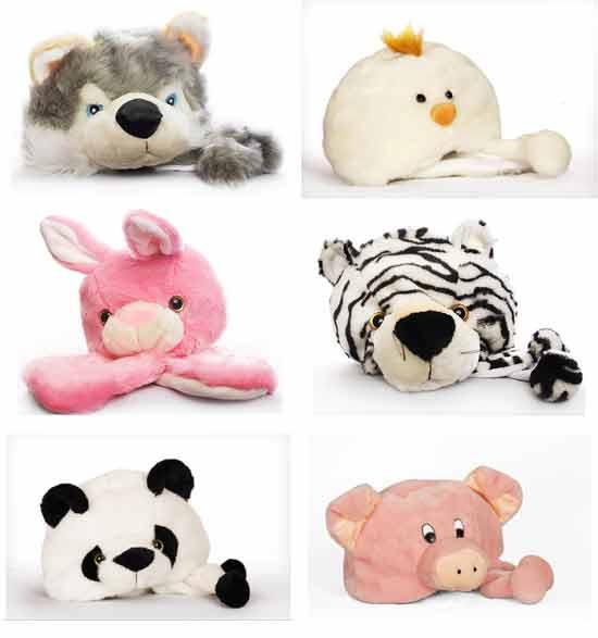 Идеи оригинальных подарков: Детские шапки в виде плюшевых зверей