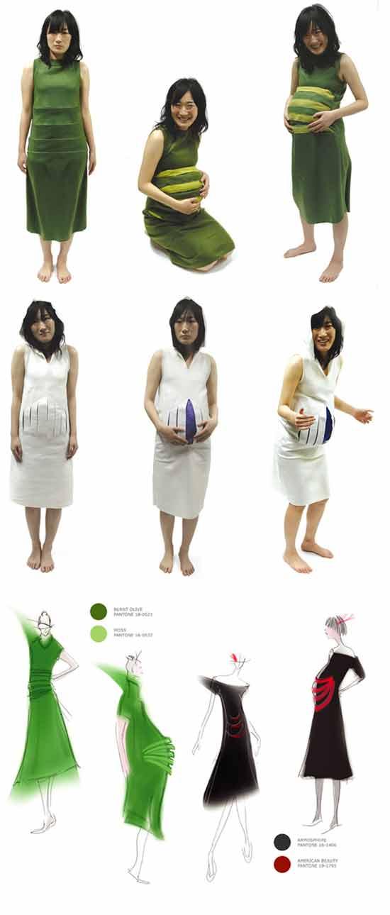 Модная идея: Платья с секретом для беременных