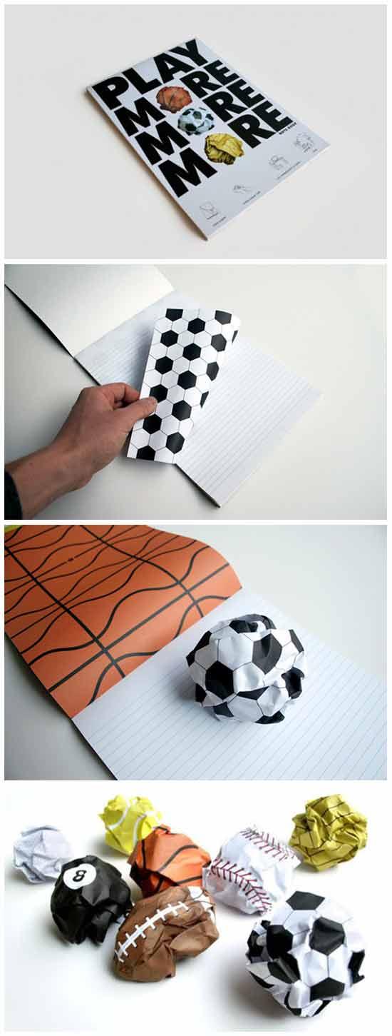 Идеи оригинальных подарков: Блокнот со страницами-мячами