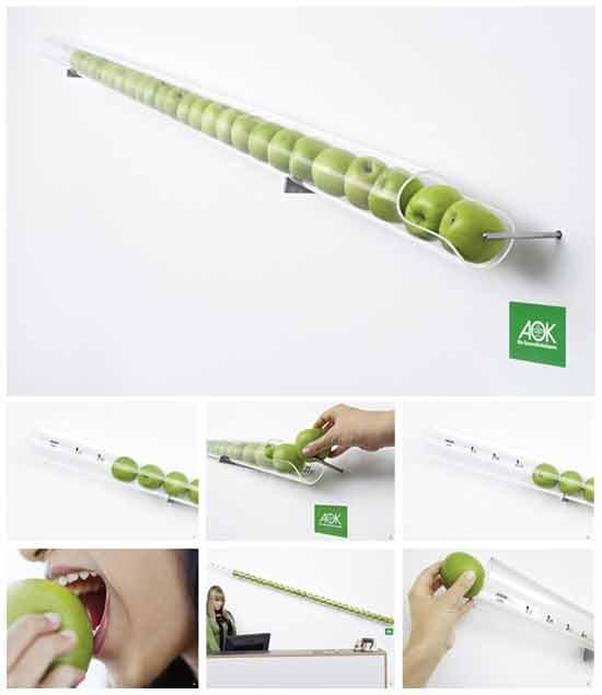Рекламные идеи: Яблочный календарь здоровья