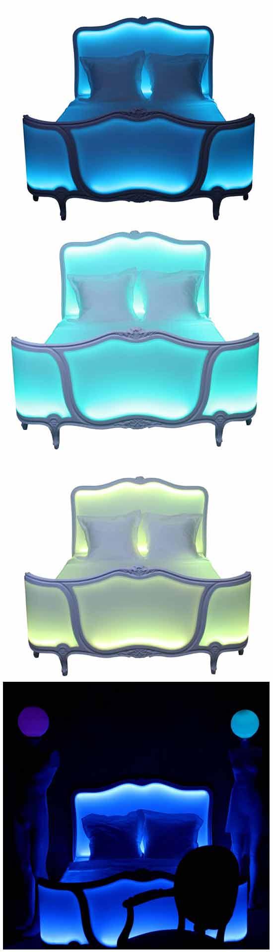 Оригинальные идеи в дизайне: Светящаяся кровать