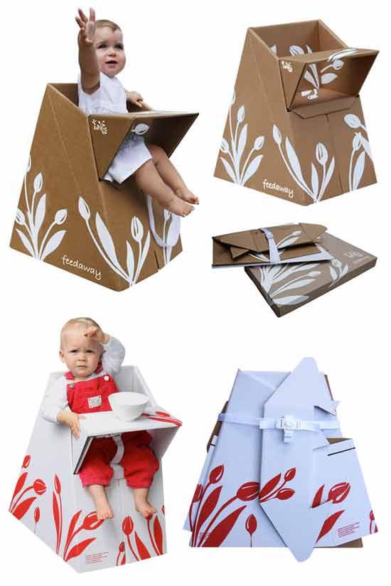 Идеи экологичного бизнеса: Картонный детский стульчик