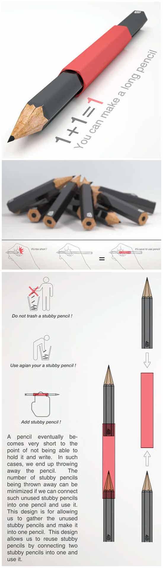 Странные идеи бизнеса: Удлинитель для карандашей
