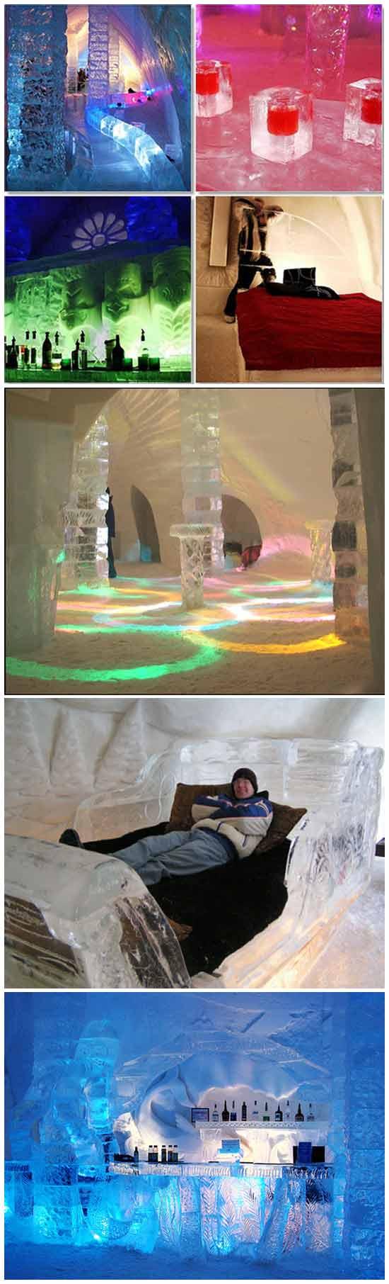 Необычная идея для отеля: Ледяной отель