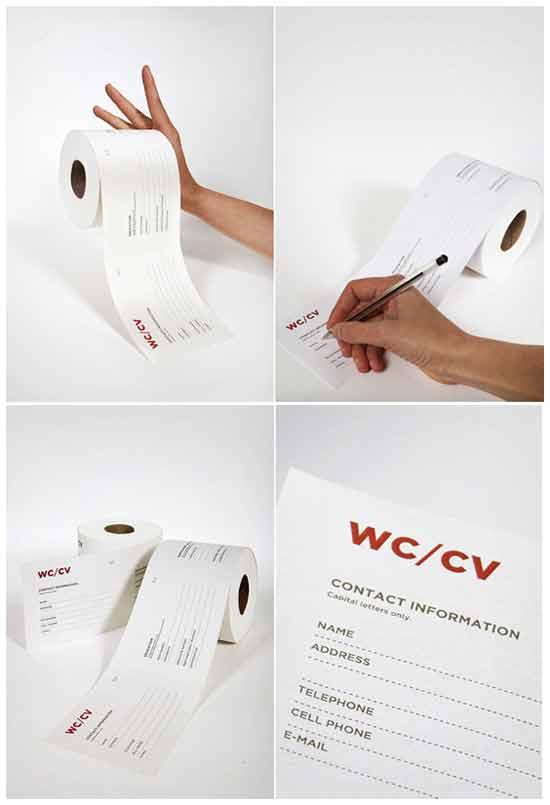 Туалетная бумага для резюме