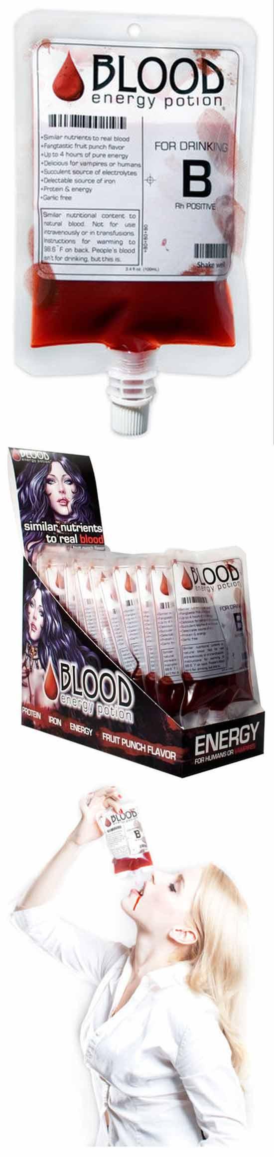 Кровяной энергетик для вампиров