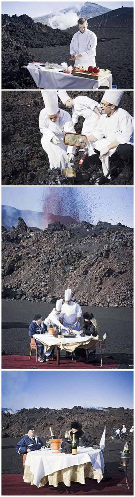 Обед на вулкане