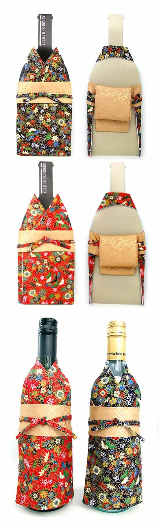 Кимоно для винной бутылки