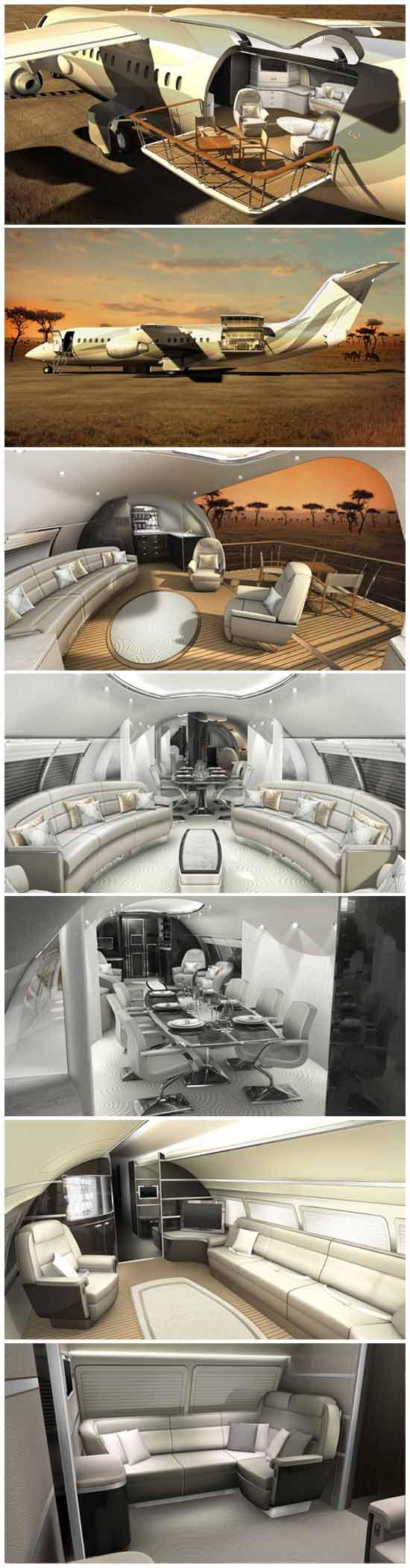 """Оригинальная задумка - балкон на самолете - """"Air Deck"""" - это самое необычное изобретение за всю историю авиастроения."""