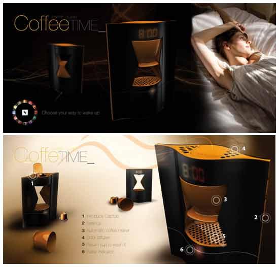 Будильник с кофейным ароматом