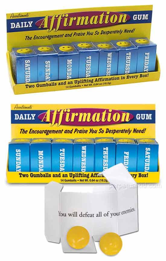 Жевательные резинки с аффирмациями