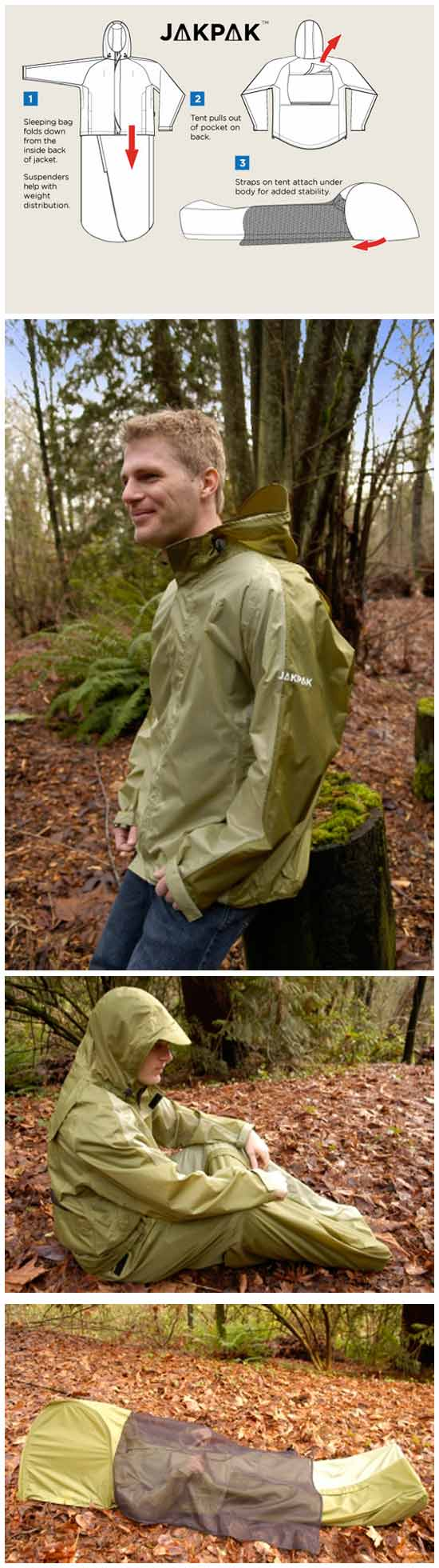 Куртка-палатка-спальный мешок: три в одном