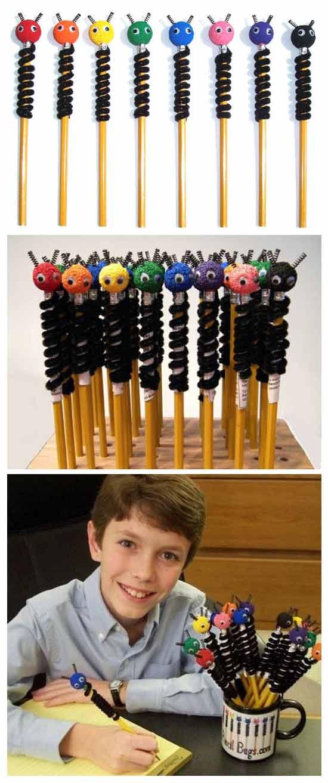 Юный предприниматель и его империя колпачков-жучков на карандаши