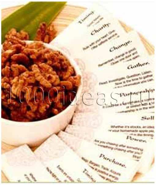 Прибыльная идея домашнего бизнеса: орешки с пожеланиями