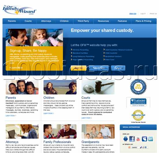 Интересная идея для бизнеса:  сайт для разведенных родителей