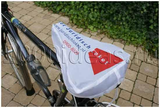 Рекламные чехлы для  велосипедов