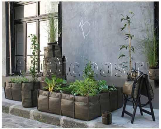 Геотекстильные сумки для растений