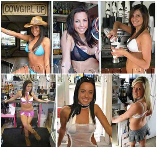 Необычная идея кофейни: бариста в бикини