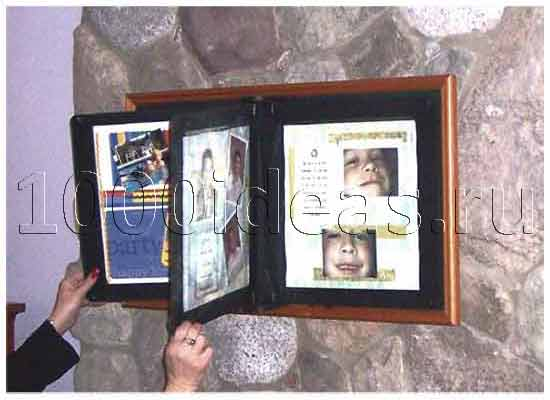 Оригинальная идея рамки для фотографий: Настенная фотокнига