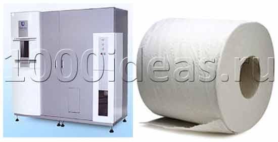 Необычная бизнес идея: машина по переработке офисной бумаги в туалетную