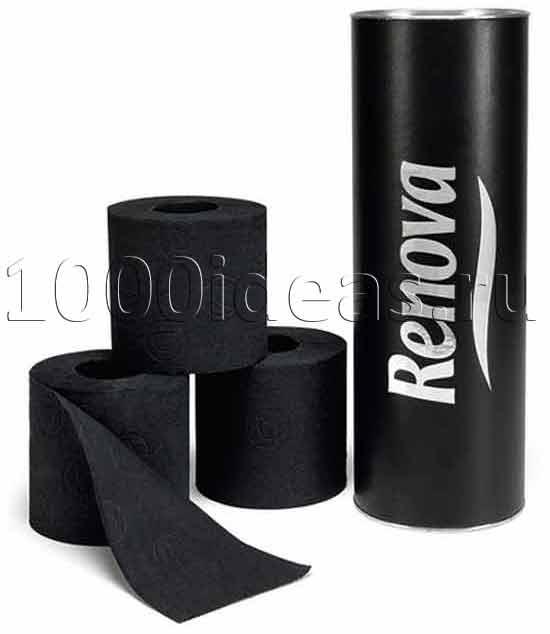 Идеи оригинальных подарков: черная туалетная бумага